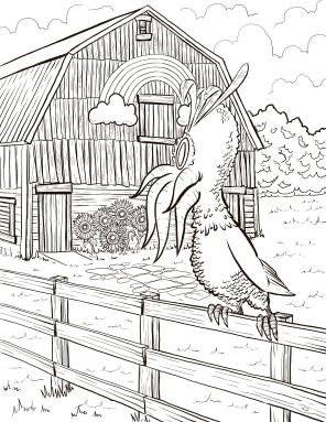"""The Lone Rooster,"" Digital inks"