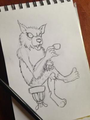 Werewolf tea party