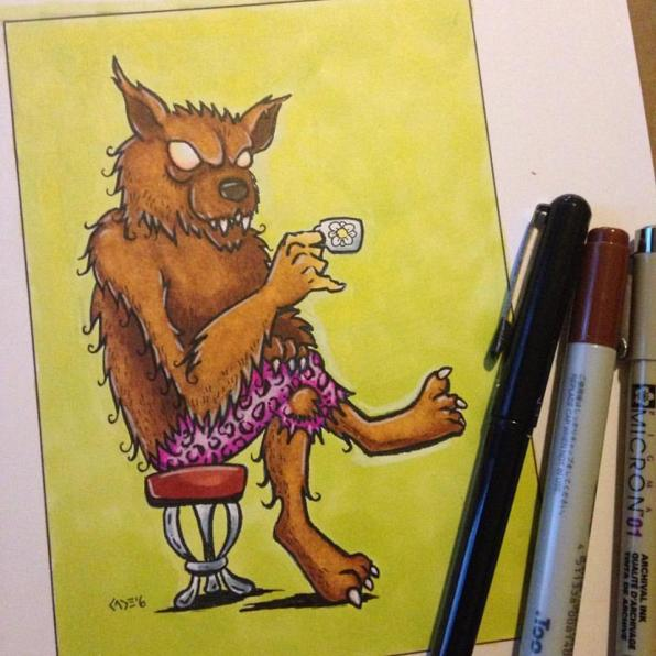 """Tea Time,"" markers"