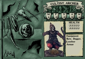 Cultist Archer 1 Stat Card