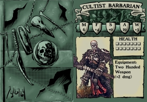 Cultist Barbarian Stat Card