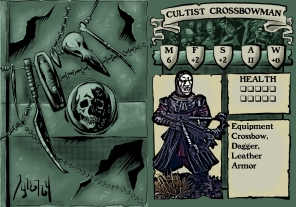 Cultist Crossbowman 1 Stat Card