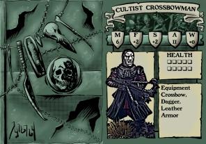 Cultist Crossbowman 1 Stat Card