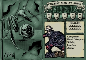 Cultist Man at Arms 2 Stat Card