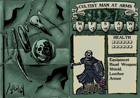 Cultist Man at Arms Stat Card
