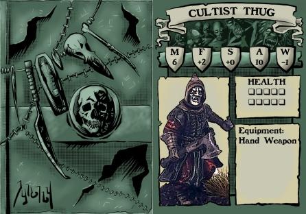Cultist Thug stat card Blank
